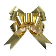 gold magic glitter pull bow